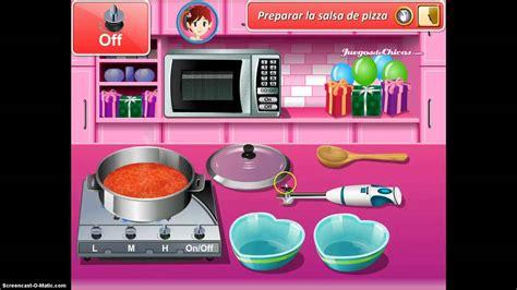 juegos de cocina con sara pizza cocina con sara pizza de san valentin hd youtube