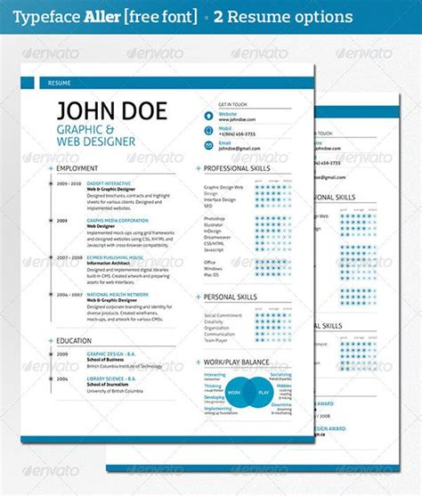 modern resume template cover letter portfolio colors