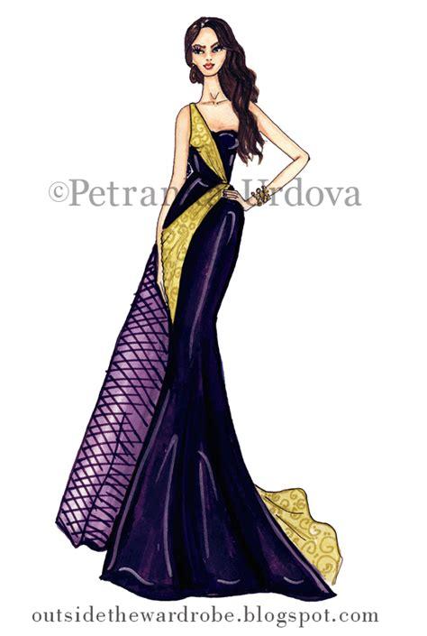 outsidethewardrobe fashion illustration evening dress