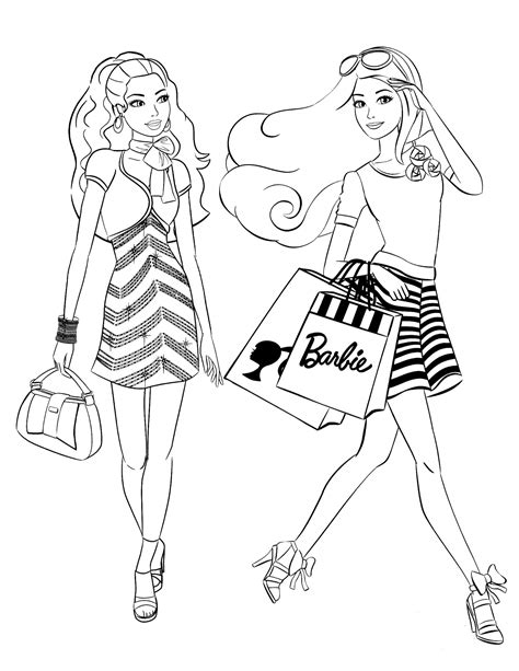 barbie coloring pages fashion dress barbie 3 coloringcolor com