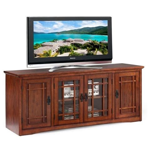 Wal Mart Rugs Leick Furniture Mission 60 Quot Tv Stand In Medium Oak 82360