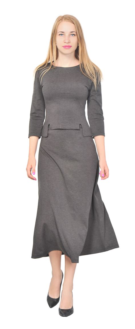 s top shirt a line midi skirt suit set casual office