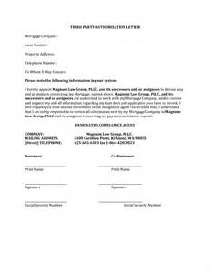 Third Party Wall Agreement Template 5 third party authorization letter procedure template