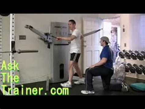 cable push pull back chest obliques abs exercise free motion