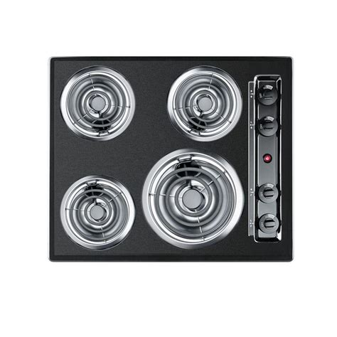 summit cooktop summit appliance 24 in coil electric cooktop in black