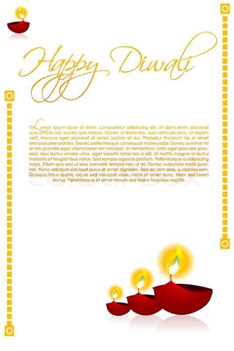 Diwali Light Decoration Home Illustration Of Diwali Card Decorated With Diya Stock
