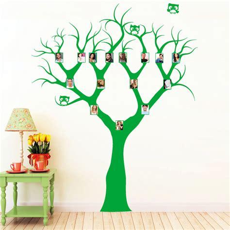 stammbaum mit eulchen wandtattoos