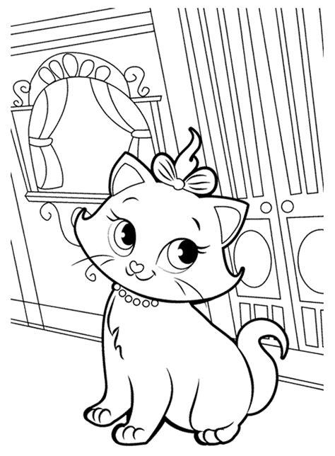 snow cat coloring page imagens para colorir da gatinha marie da disney