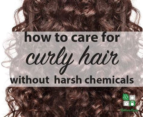 Curly Look Without Chemicals | how to care for curly hair naturally wellness mama