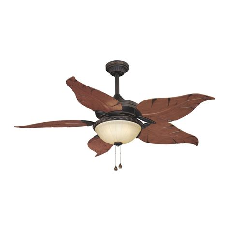 bamboo ceiling fans lowes shop harbor 52 in outdoor ceiling fan with light