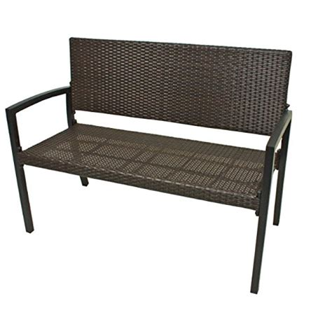 wicker bench seat modern polyrattan wicker garden bench seats 2 people durable aluminium frame garden rattan furniture