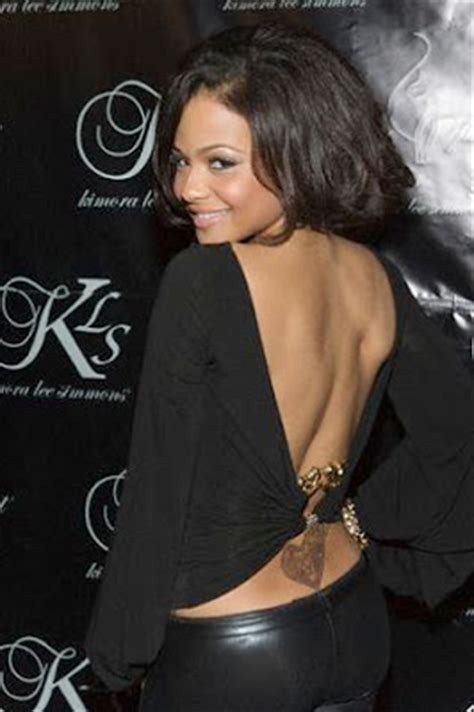 christina milian tattoo what has the best tattoos up the p a c e