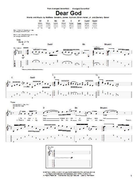tutorial guitar dear god dear god by avenged sevenfold guitar tab guitar instructor