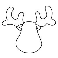 reindeer templates cut out reindeer template 14 free patterns for reindeer cut out