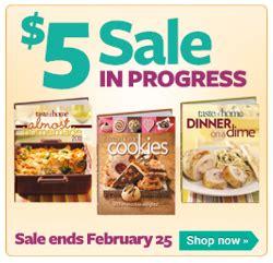 taste of home cookbook 2013 get taste of home hardcover cookbooks for 5 shipped