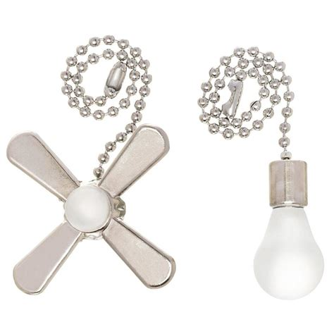 ceiling fan chain shop harbor 7 in brushed nickel and white metal