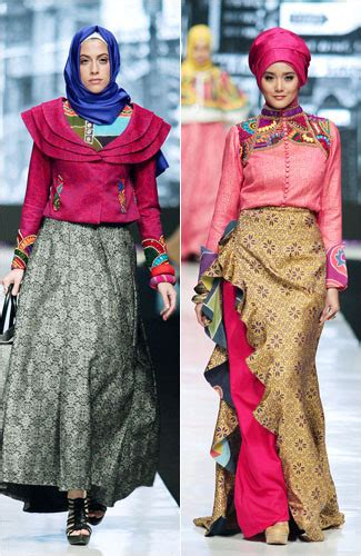 gamis batik desain dian pelangi 18 model baju muslim batik ekslusif elegan dan fashionable