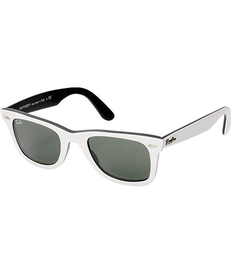 black and white ray ban wayfarers ray ban original wayfarer white black sunglasses