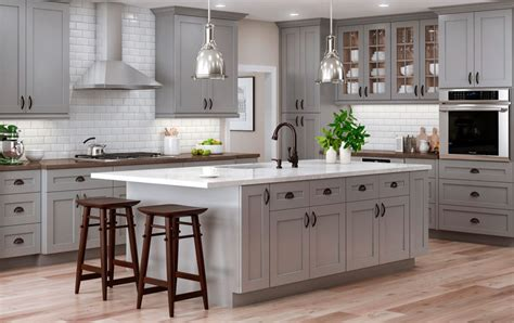 Kraftmaid Kitchen Cabinets by Tiverton In Pebble Gray My Cabinets Com