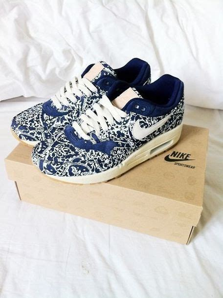 shoes nike air max blue and white sneakers motif