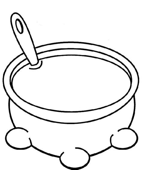 soup template free coloring pages of soup bowl