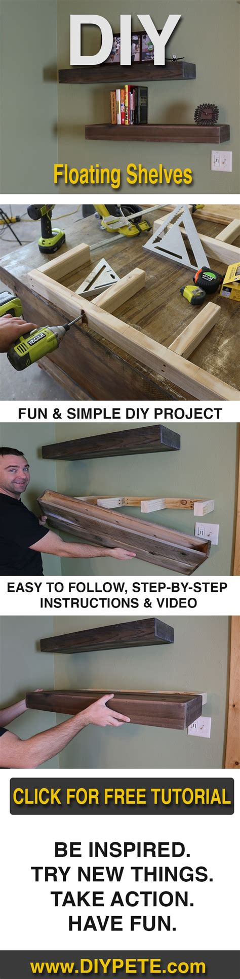 how to learn woodworking learn how to make wood floating shelves with diy pete