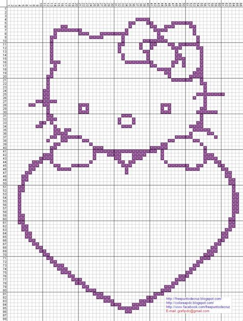 imagenes de kitty en punto de cruz hello kitty para punto de cruz imagui