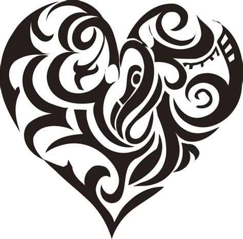 tribal heart tattoos with names new black tribal design