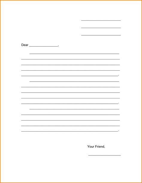 Blank Letter Template Theveliger Blank Letter Template