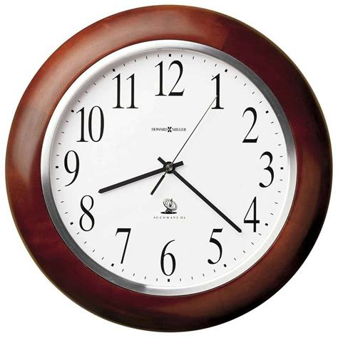 wall clock howard miller 625 259 murrow atomic clock the clock depot
