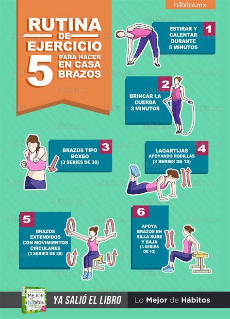 ejercicios de para hacer en casa h 225 bitos health coaching rutina de ejercicio 5 para