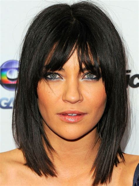 eye grazing bangs 30 super chic medium hairstyles with bangs part 9