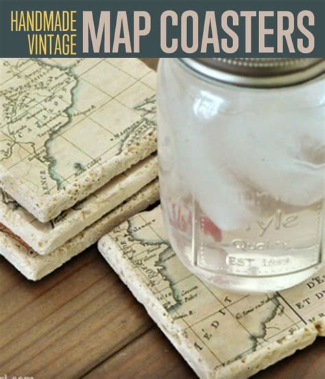 How To Make Handmade Coasters - how to make diy vintage map coasters diy ready