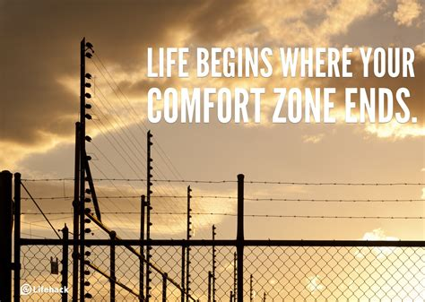 life starts comfort zone 30sec tip life begins where