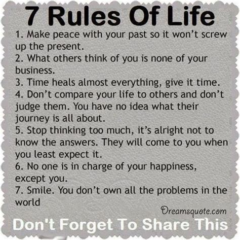 positive quotes about life the 7 rules of life deep inspirational quotes dreamsquote
