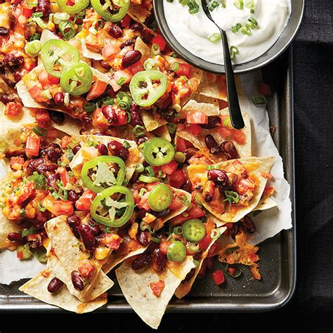 nachos supreme recipe loaded nachos with beans and chorizo chatelaine