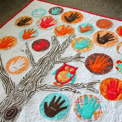 How To Make An Applique Quilt by Adorable Applique Family Tree Quilt Favequilts