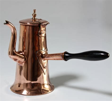 antiques atlas georgian copper chocolate pot t961