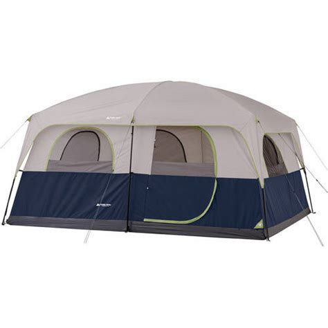cabin tents ozark trail 10 person 2 room family cabin tent walmart com