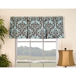 Blue And Brown Window Valance Overstock Accent Your Window With This Traditional