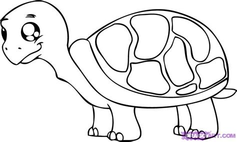 How To Draw A Cartoon Turtle Step By Step Cartoon Animals Animals Free Online Drawing Animal Pictures For To Draw