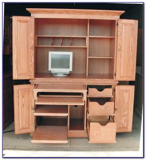 computer storage hideaway cabinet desk corner computer cabinet desk desk home design ideas
