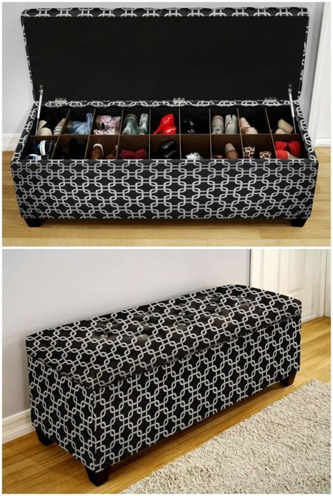 storage ideas for shoes rustic bench ottomans and the end on