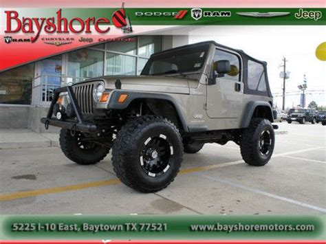 Automatic Jeep Soft Top Buy Used 2003 Jeep Wrangler Soft Top Automatic In Baytown