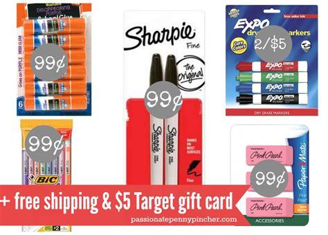 Target 5 Gift Card School Supplies - target 99 school supplies 5 target gift card offer passionate penny pincher