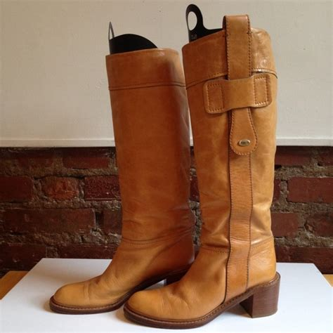 camel colored boots 75 boots leather knee high camel