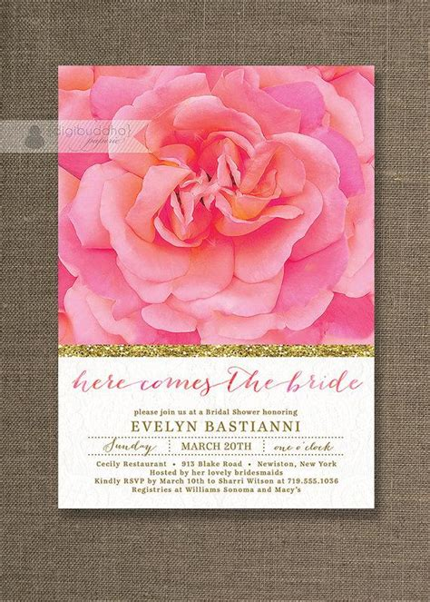 diy pink and gold wedding invitations gold bridal shower invitation lace pink glitter
