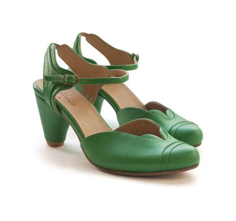 Womens Handmade Shoes - new green shoes handmade leather shoes heels