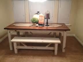 Bench Tables For Kitchen Farm Kitchen Table For Farmhouse Kitchen Mykitcheninterior