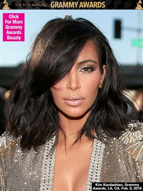 kimkardashian short hair kim kardashian at grammy awards 2015 new short hairstyle